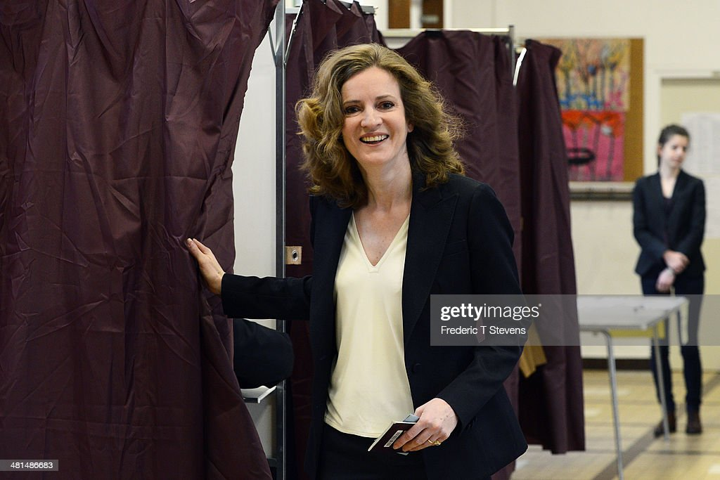 Paris UMP Mayoral Candidate Nathalie Kosciusko-Morizet Votes In Paris