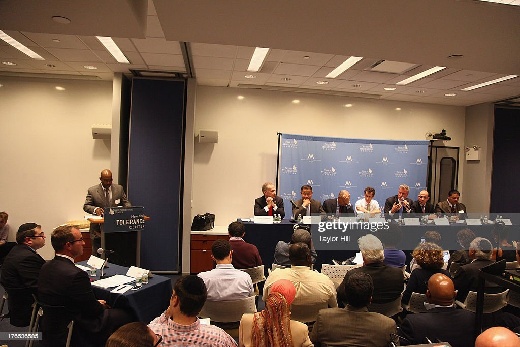 Mayoral candidates attend The New York City Mayoral Forum on Cultural Sensitivity & Tolerance at the Museum of Tolerance on August 14, 2013 in New York City.