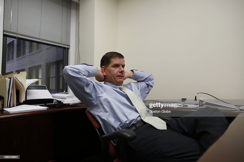 Mayor-elect Martin Walsh is seen during an interview at his campaign headquarters in Boston, Massachusetts November 7, 2013.