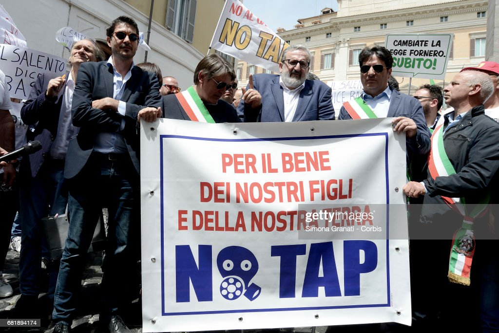 Image result for TAP İtalia protest