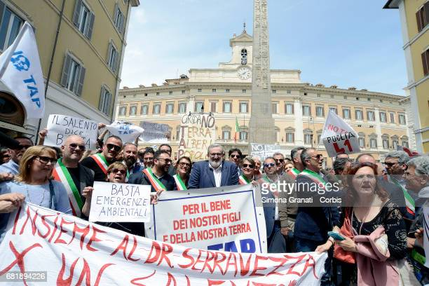Mayors of Salento headed by the President of the Puglia Region Michele Emiliano met at Montecitorio Square in front of Parliament for a peaceful...