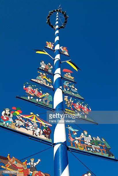 maypole at Viktualienmarkt, Munich, Bavaria