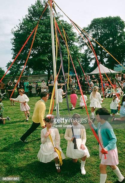 Maypole Dance on Oak Apple Day