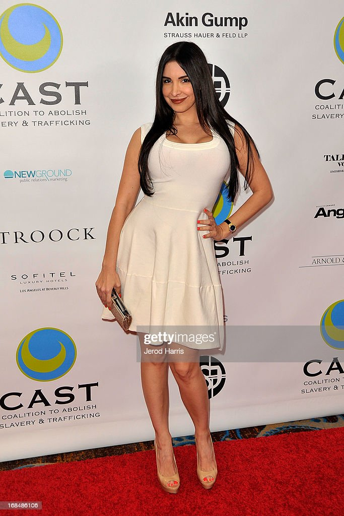Mayra Veronica arrives at the Coalition To Abolish Slavery and Trafficking's 15th Annual From Slavery to Freedom gala at the Sofitel Hotel on May 9, 2013 in Los Angeles, California.