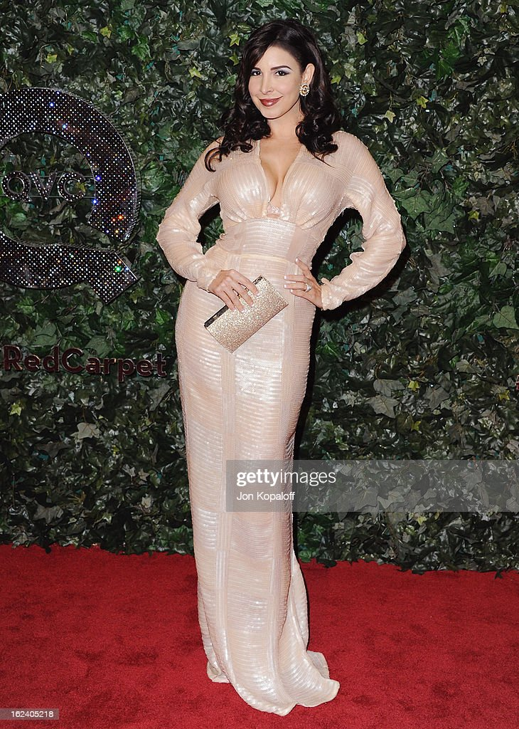 Mayra Veronica arrives at the QVC Red Carpet Style Party at Four Seasons Hotel Los Angeles at Beverly Hills on February 22, 2013 in Beverly Hills, California.