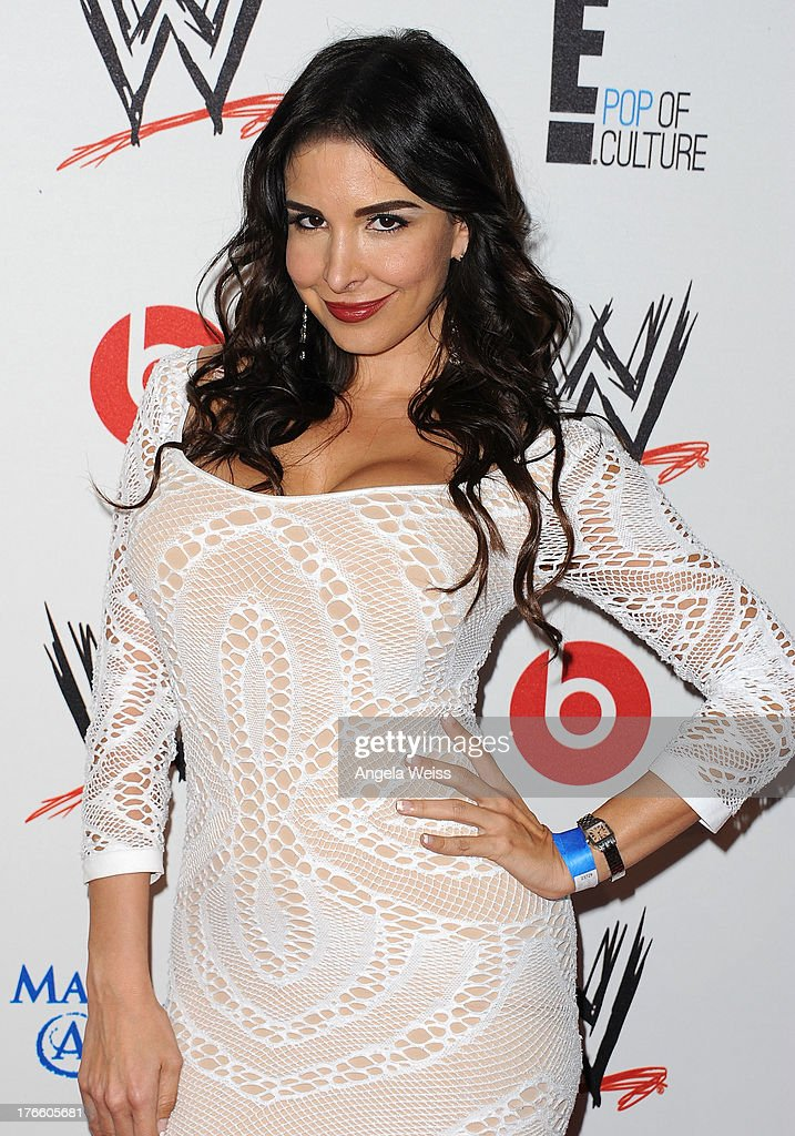 Mayra Veronica arrives at WWE and E! Entertainment's 'Superstars For Hope' at Beverly Hills Hotel on August 15, 2013 in Beverly Hills, California.
