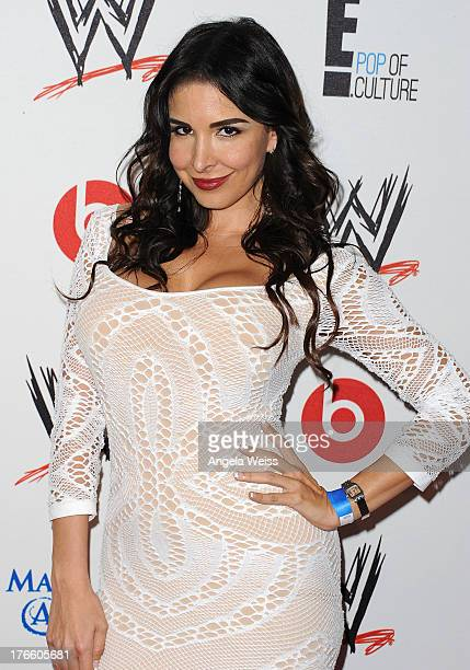 Mayra Veronica arrives at WWE and E Entertainment's 'Superstars For Hope' at Beverly Hills Hotel on August 15 2013 in Beverly Hills California