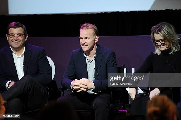 Maytag Senior Brand Manager Brendan Bosch Warrior Poets Filmmaker CEO and President Morgan Spurlock and Ketchum VP of Branded Entertainment Kelly...