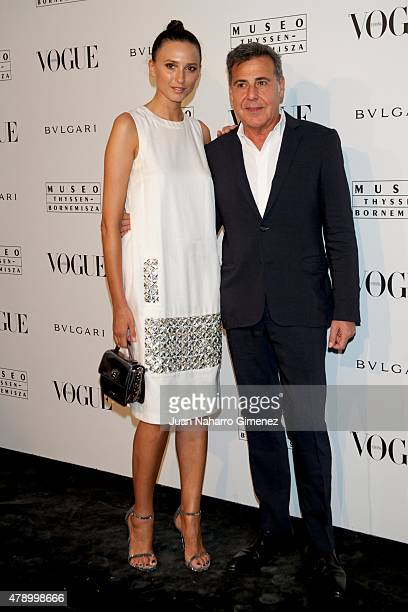 Mayte de la Iglesia and Angel Schlesser attend 'Vogue Like a Painting' exhibition at Museo ThysenBornemiszaon June 29 2015 in Madrid Spain