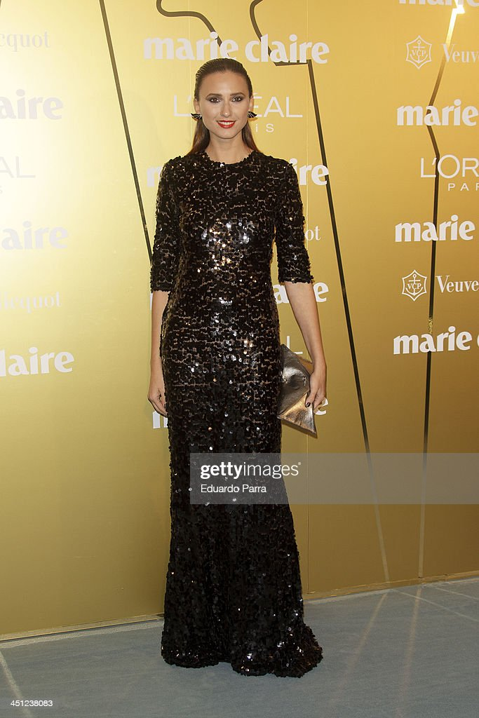 Mayte de la Iglesia attends 'Marie Claire Prix de la moda' awards 2013 photocall at Residence of France on November 21, 2013 in Madrid, Spain.