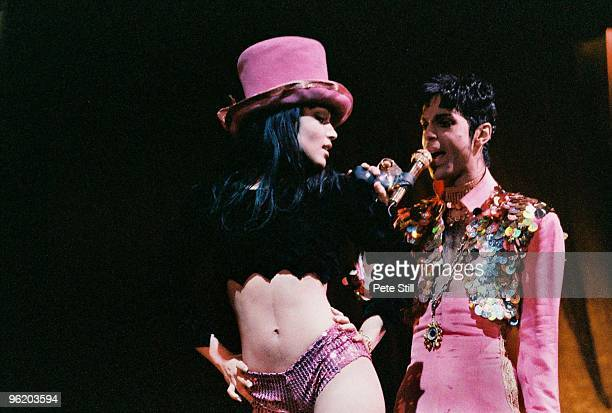 Mayte Garcia and Prince perform on stage on 'The Ultimate Live Experience' tour at Wembley Arena on March 4th 1995 in London United Kingdom