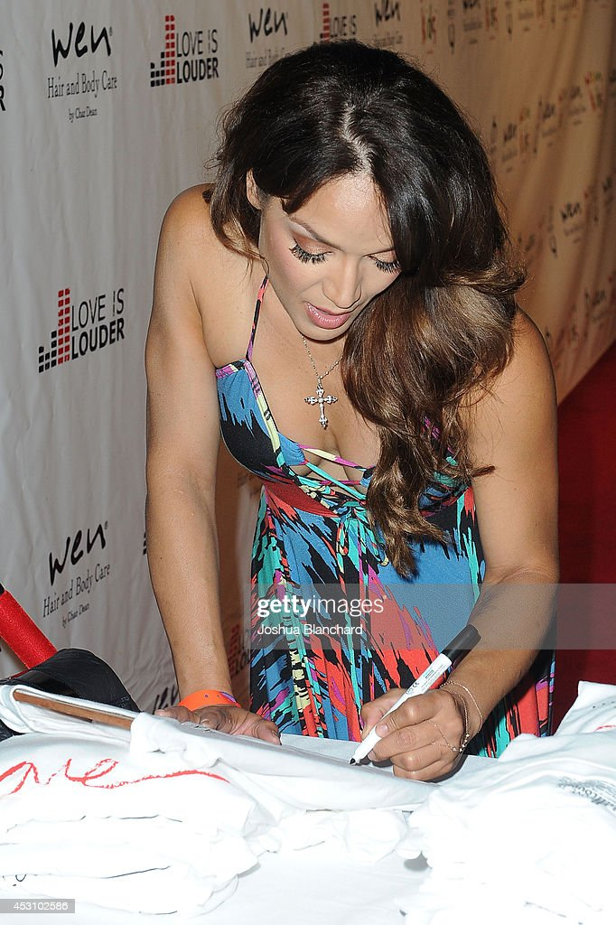 Mayte Garcia arrives at Chaz Dean's Summer Party benefiting Love Is Louder on August 2, 2014 in Los Angeles, California.