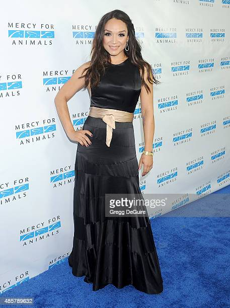 Mayte Garcia arrives at The Hidden Heroes Gala presented by Mercy For Animals at Unici Casa on August 29 2015 in Culver City California