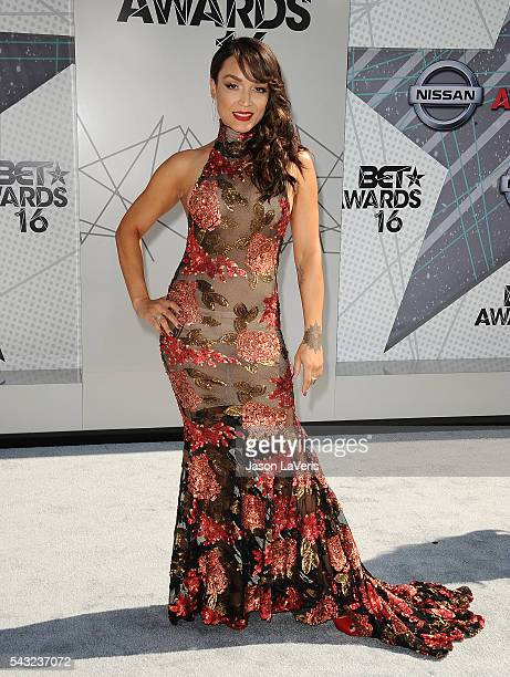 Mayte Garcia attends the 2016 BET Awards at Microsoft Theater on June 26 2016 in Los Angeles California