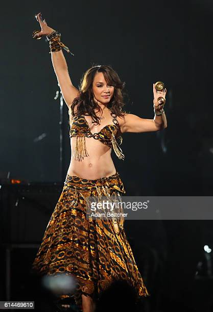 Mayte Garcia performs during the 'Official Prince TributeA Celebration of Life and Music' concert at Xcel Energy Center on October 13 2016 in St Paul...