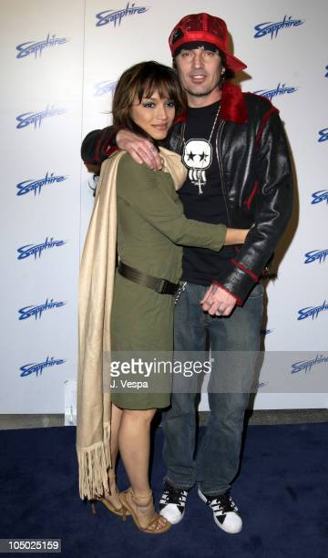 Mayte Garcia Tommy Lee during Grand Opening of Sapphire The Largest Gentlemen's Club in the World at Sapphire in Las Vegas Nevada United States