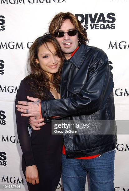 Mayte Tommy Lee during VH1 Divas 2002 Arrivals at MGM Grand Arena in Las Vegas Nevada United States