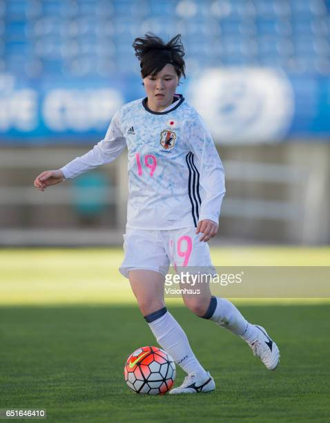 Mayu Sasaki of Japan during the Fifth Place Playoff 2017 Algarve Cup match between Japan and The Netherlands at the Estadio Algarve on March 08 2017...
