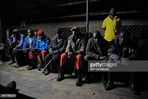 Mayumba Kumi crime preventers a community patrol team that was started by the Katabi Town Council meet to patrol with Ugandan police office following...