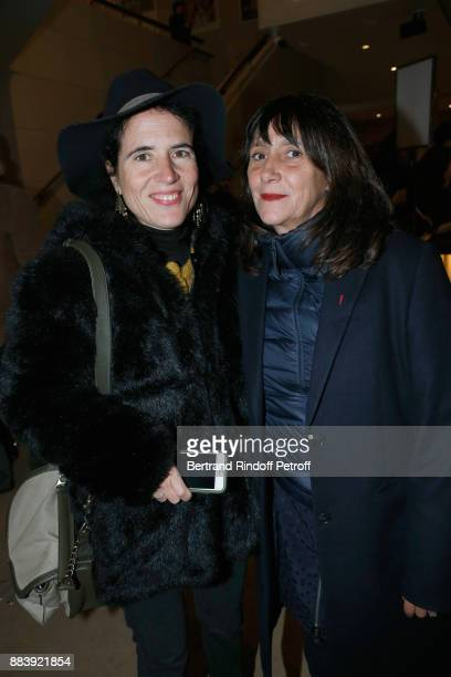 Mazarine Pingeot and Producer of the movie Sylvie Pialat attend the 'Les Gardiennes' Paris Premiere at la cinematheque on December 1 2017 in Paris...