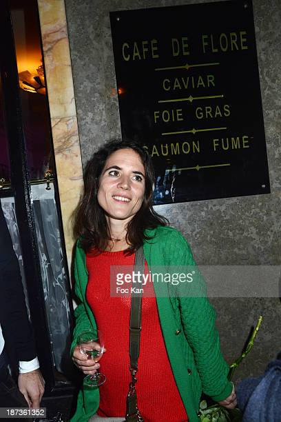 Mazarine Pingeot attends the Prix de Flore 2013' Ceremony Cocktail At Cafe De Flore on November 7 2013 in Paris France