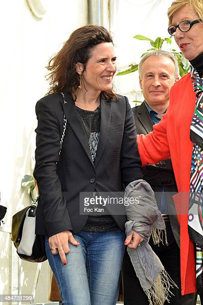Mazarine Pingeot Bruno Quenioux and Danielle Sallenave attend the 'Journees Nationales du Livre et du Vin 2014' At Bouvet Ladurey Cellars on April 13...