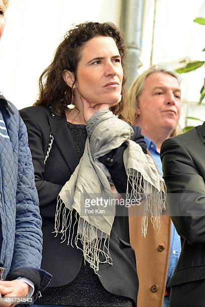 Mazarine Pingeot daughter of Fancois Mitterrand attendx the 'Journees Nationales du Livre et du Vin 2014' At Bouvet Ladurey Cellars on April 13 2014...