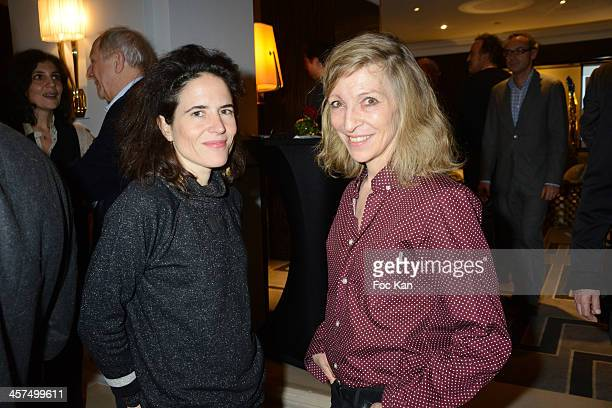 Mazarine Pingeot Mitterrand and Emmanuelle De Boysson attend the 'Escales Litteraires' Cocktail Hosted By Sofitel Hotels At the Sofitel Paris Le...