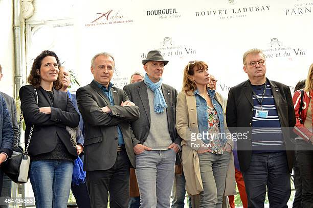 Mazarine Pingeot wine expert Bruno Quenioux a guest Julie de Bazac and Dominique Besnehard attend the 'Journees Nationales du Livre et du Vin 2014'...