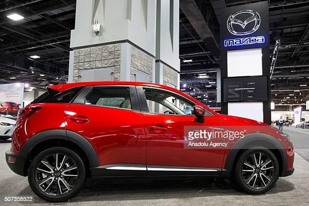 Mazda CX3 on display at the Washington Auto Show in Washington USA on January 28 2015