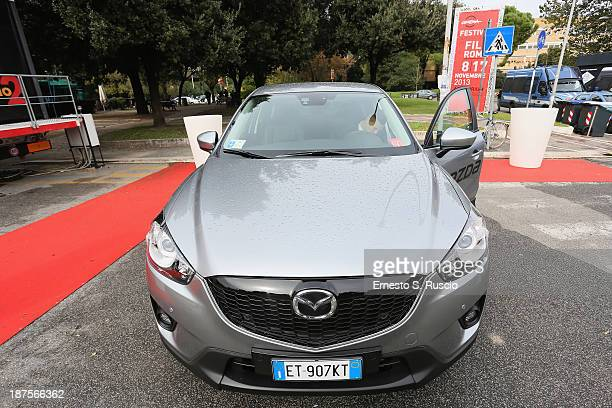 Mazda is parked during the 8th Rome Film Festival at the Auditorium Parco Della Musica on November 10 2013 in Rome Italy