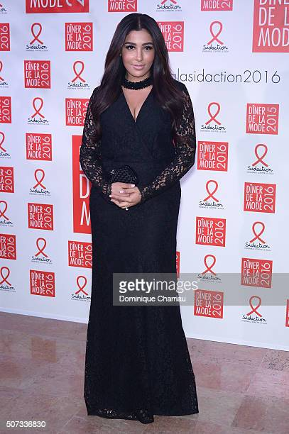 Mazda Magui footballer Mamadou Sakho's wife attends the Sidaction Gala Dinner 2016 as part of Paris Fashion Week on January 28 2016 in Paris France