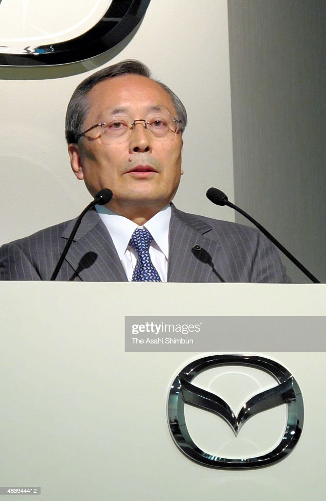 Mazda Motor Co President Takashi Yamauchi speaks during a press conference on November 18, 2010 in Tokyo, Japan.