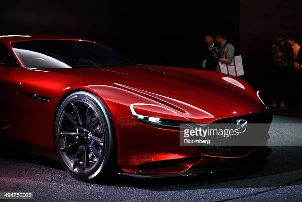 Mazda Motor Corp's RXVision concept vehicle stands on display at the Tokyo Motor Show in Tokyo Japan on Wednesday Oct 28 2015 Toyota Motor Corp Honda...
