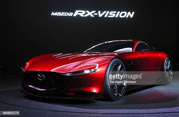 Mazda Motor Co's RXVision is displayed during the Tokyo Motor Show at Tokyo Big Sight on October 28 2015 in Tokyo Japan 160 companies from 11...