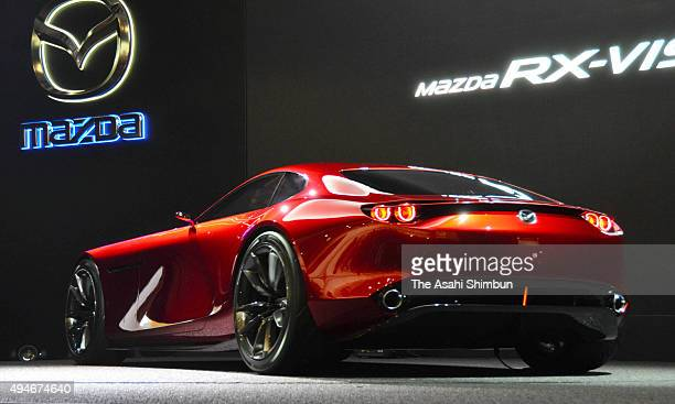 Mazda Motor Co's RXVision is unveiled during the Tokyo Motor Show at Tokyo Big Sight on October 28 2015 in Tokyo Japan 160 companies from 11...