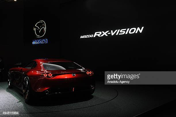 Mazda Motor Co's RXVision is unveiled during the Tokyo Motor Show at Tokyo Big Sight on October 29 2015 in Tokyo Japan 160 companies from 11...