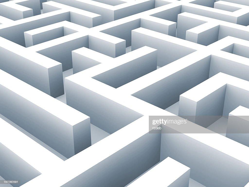 Maze - labirynth. Problem concept : Stockfoto