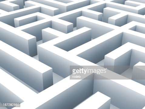 Maze - labirynth. Problem concept : Stock Photo