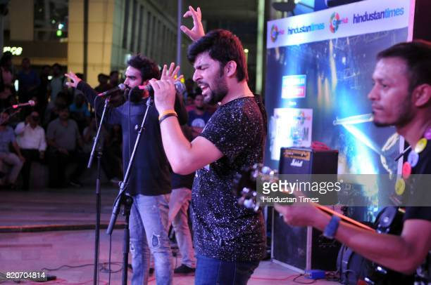 Mazhab band performs at Friday Jam season4 organised by Hindustan Times at CyberHub on July 21 2017 in Gurgaon India
