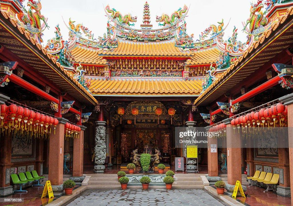 Mazu temple interior in Taitung Taiwan