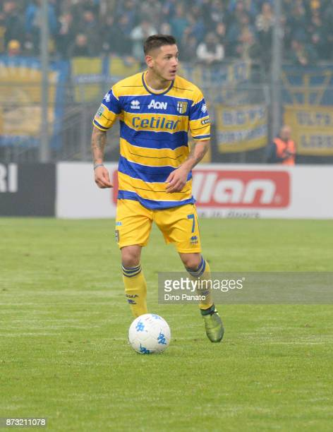 Mazzocchi of Parma Calcio during the Serie B match between AS Cittadella and Parma Calcio on November 12 2017 in Cittadella Italy