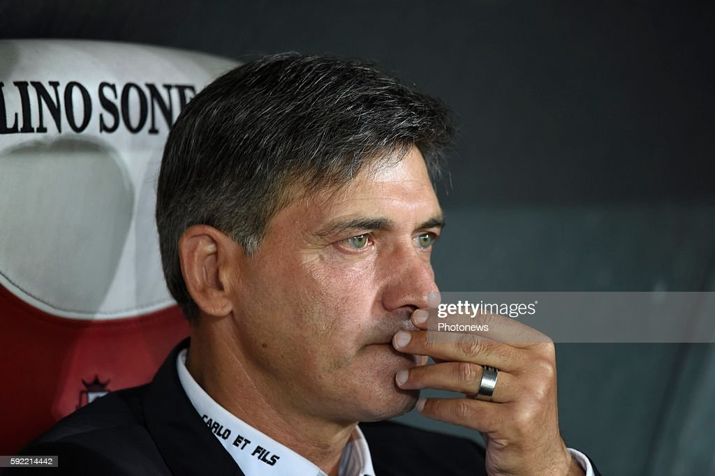 Mazzu Felice head coach of Charleroi pictured during Jupiler Pro League match between Standard of Liege and Sporting of Charleroi on August 19 2016...