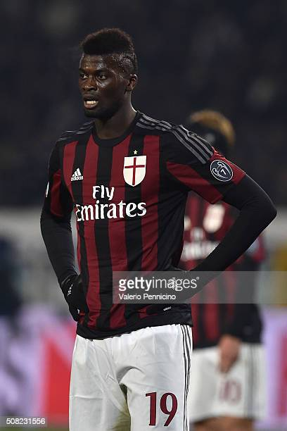 Mbaye Niang of AC Milan looks on during the TIM Cup match between US Alessandria and AC Milan at Olimpico Stadium on January 26 2016 in Turin Italy