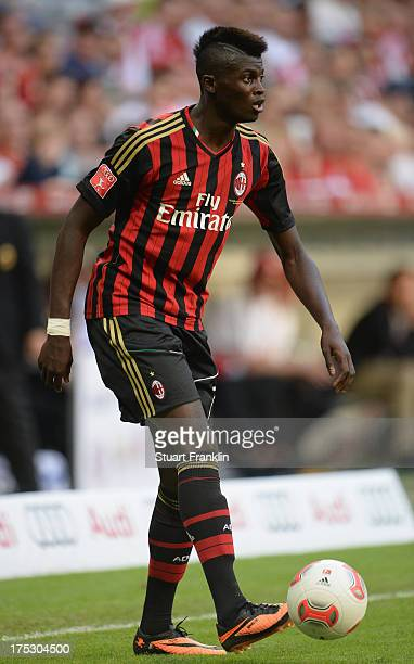 Mbaye Niang of Milan in action during the third place match between FC Sao Paulo and AC Milan at Allianz Arena on August 1 2013 in Munich Germany