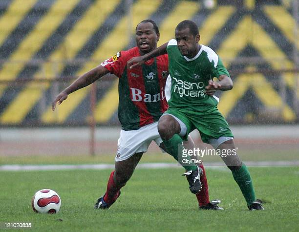 Mbesuma and Orestes during a Portuguese Premier League match between Maritimo and Naval in Funchal Portugal on April 7 2007