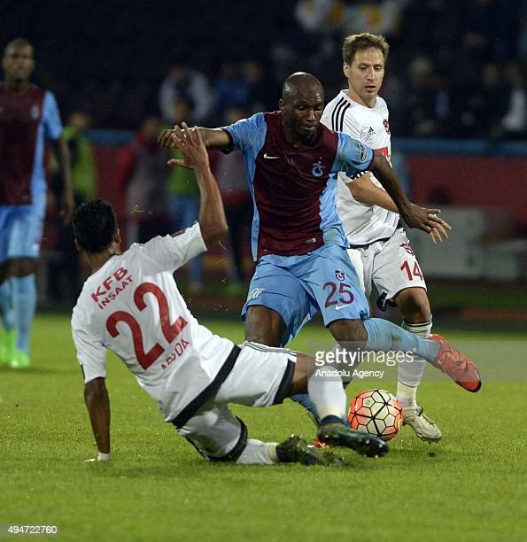 Mbia of Trabzonspor in action during a Turkish Spor Toto Super League soccer match between Trabzonspor and Gaziantepspor at Huseyin Avni Aker Stadium...