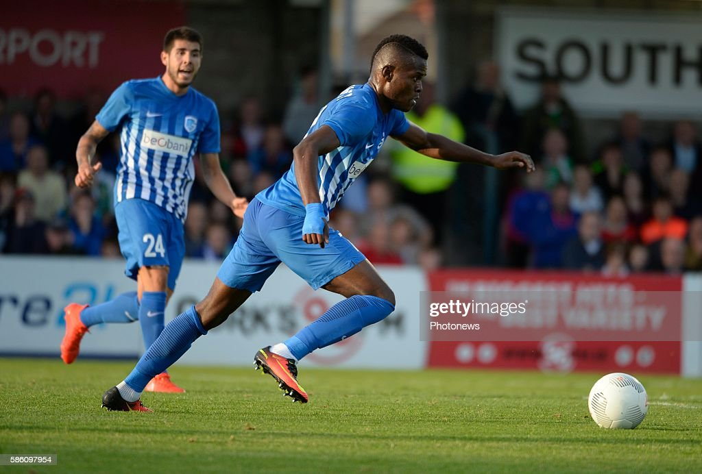 Mbwana Ally Samatta forward of Krc Genk pictured during UEFA Europa League third qualifying round 2nd Leg match between Cork City FC and KRC Genk on...