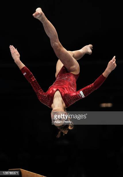 Mc Kayla Maroney of the USA competes on the Beam aparatus in the Women's qualification during day two of the Artistic Gymnastics World Championships...