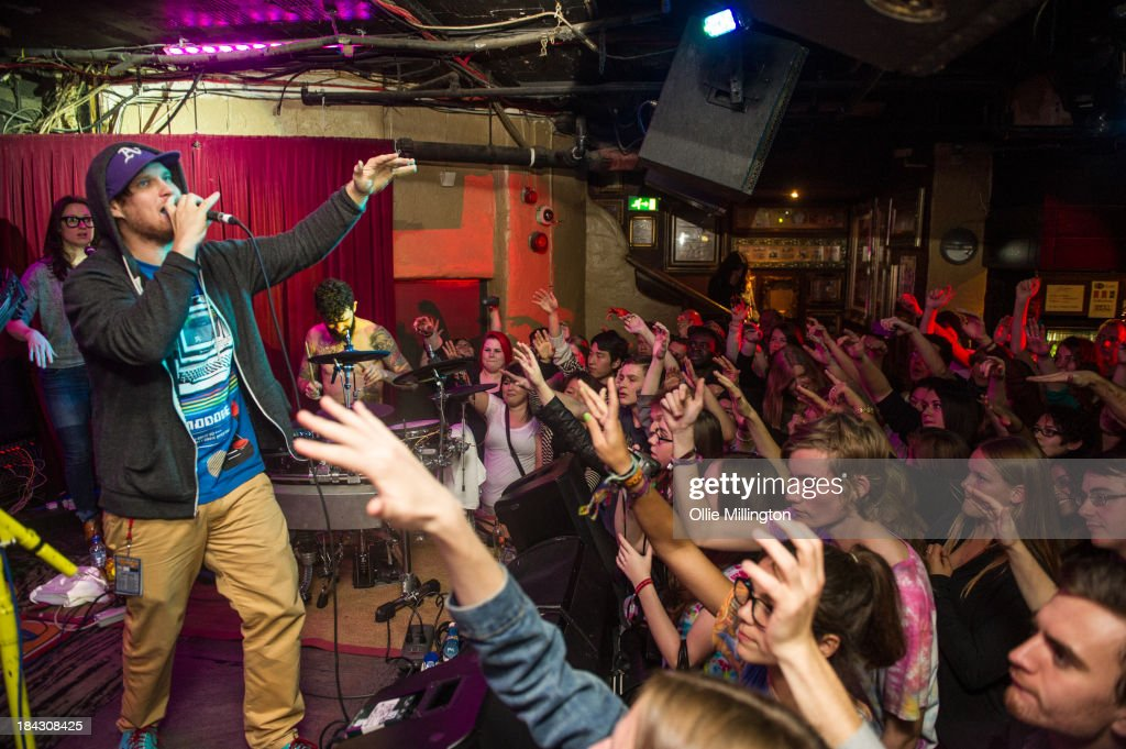 Mc Lars performs on stage at Borderline on October 12, 2013 in London, England.